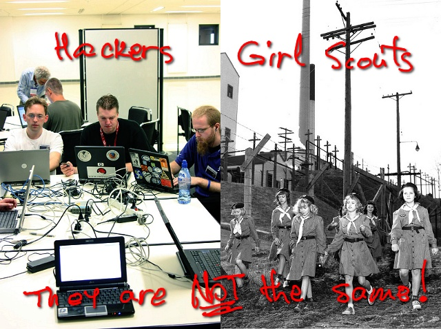 hackers vs. girl scouts