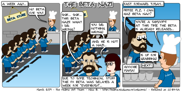 [fedora webcomic: beta nazi]