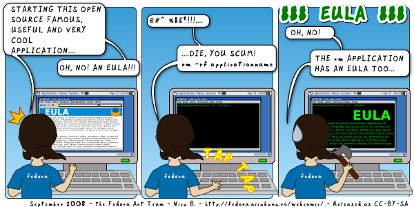 [fedora webcomic: eula]