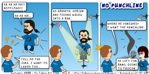 [fedora webcomic: no punchline]