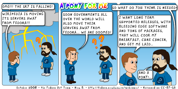 [fedora webcomic: pony]
