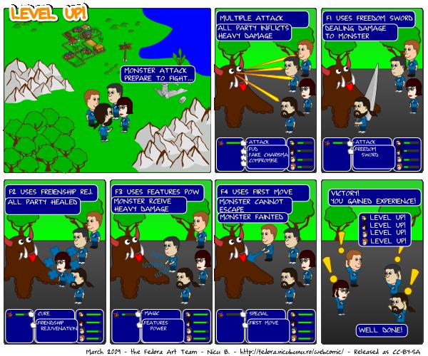 [webcomic fedora: level up!]