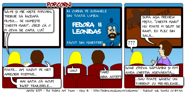 [webcomic fedora: popcorn]