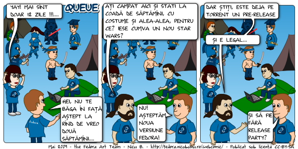 [webcomic fedora: asteptare]