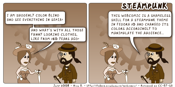 [fedora webcomic: steampunk]