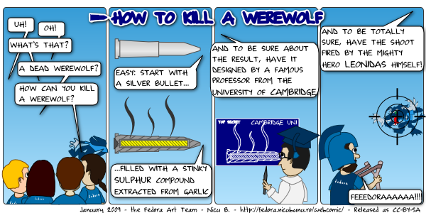 [fedora webcomic: werewolf kill]